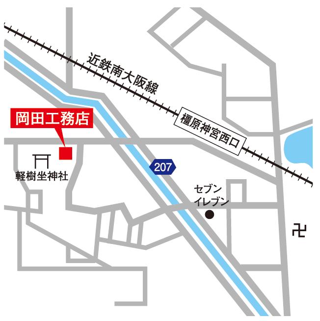 岡田工務店の地図