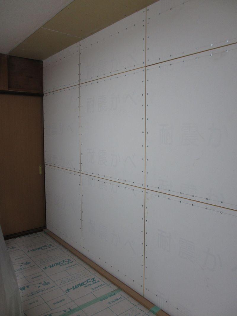 耐震改修後(耐震かべをとりつけ、壁強度アップ)